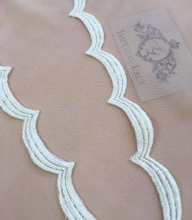 Champagne lace trim