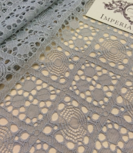 Grey Lace Fabric, French Lace