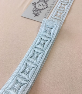 Light blue lace trim