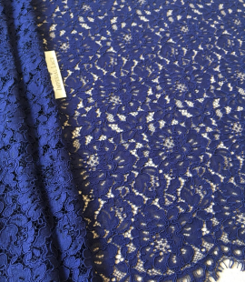 Dark blue lace fabric