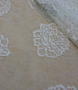 Ivory Lace Fabric, French Lace.