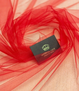 Hot red soft tulle fabric