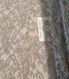 Anthracite lace fabric