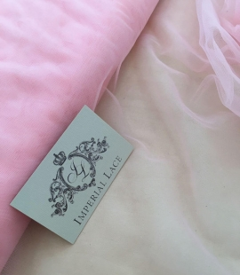Baby pink tulle fabric