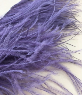 Lilac ostrich feather fringe 2 Ply on a Cord trim