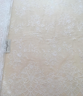 Pearl grey lace fabric