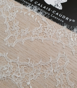 Off white natural chantilly lace trimming by Jean Bracq