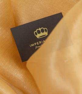 Caramel color silk organza fabric