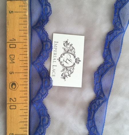 Blue Chantilly lace trim. Photo 4