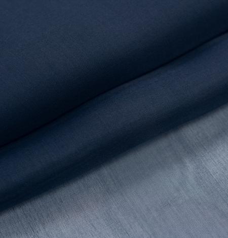 Dark blue silk organza fabric. Photo 7