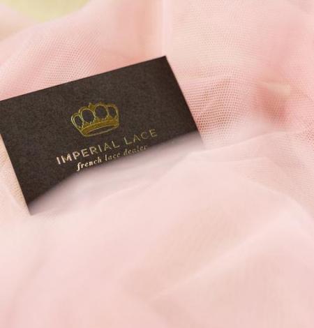 Old rose pinkish soft tulle fabric. Photo 8