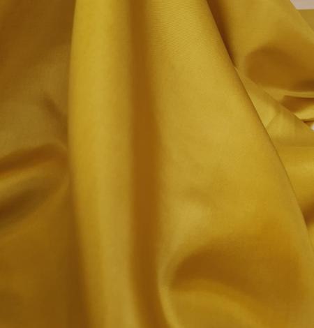 Mustard green silk lining fabric. Photo 7