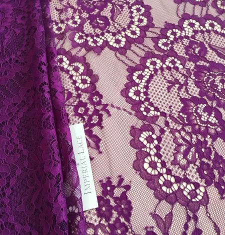 Violet lace fabric. Photo 4