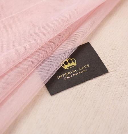 Old rose pinkish soft tulle fabric. Photo 2
