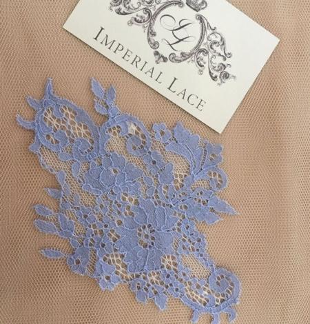 Blue guipure lace applique . Photo 5