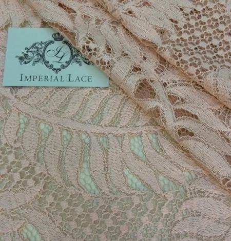 Pink organic pattern guipure lace fabric . Photo 1