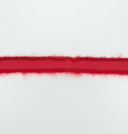 Red lana wool ribbon. Photo 5