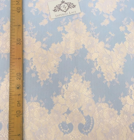 Blue Lace Fabric. Photo 9