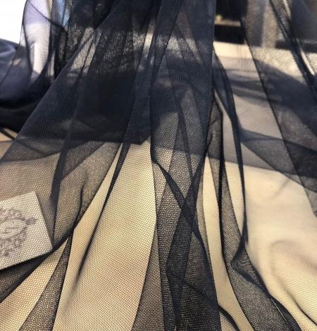 Dark blue tulle fabric. Photo 1