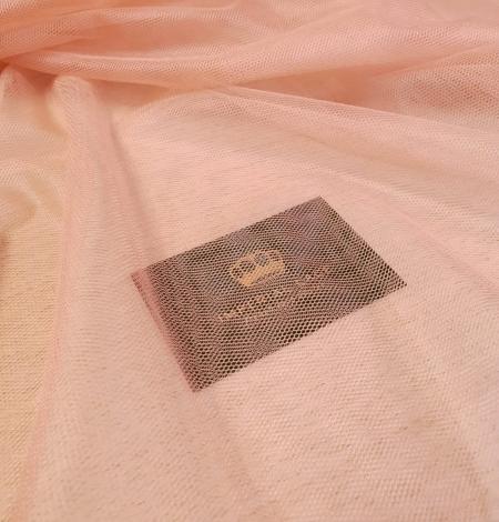 Darkish peachy pink silk tulle fabric. Photo 9