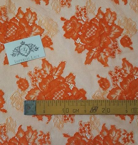 Orange Lace Fabric. Photo 4