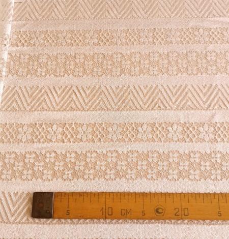 Ivory viscose chantilly lace fabric. Photo 6
