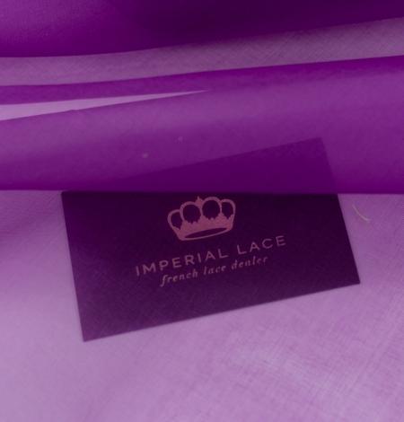 Purple silk organza fabric . Photo 3