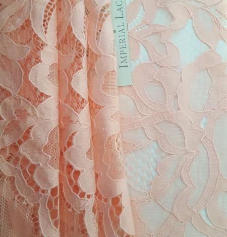 Salmon Pink Lace Trim. Photo 1