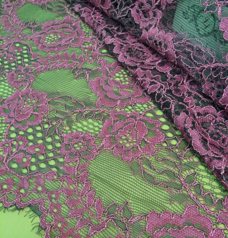 Pink lace fabric. Photo 3