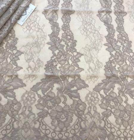 Dark ecru lace fabric. Photo 6