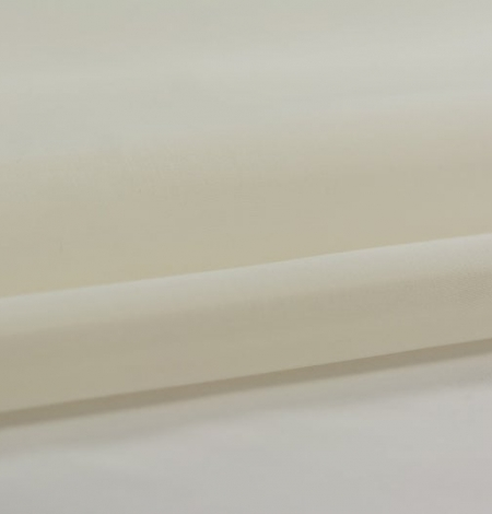 Ivory silk satin organza fabric . Photo 2
