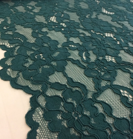 Green Lace Fabric. Photo 2