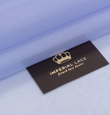 Blue with grey shade silk organza fabric . Photo 1