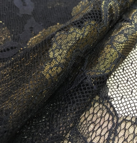 Black with gold lace fabric. Photo 6
