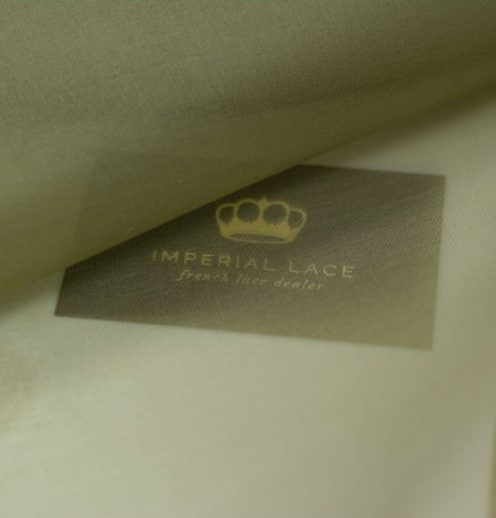 Olive green silk organza fabric . Photo 8
