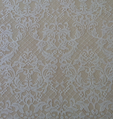 Ivory floral chantilly lace. Photo 1