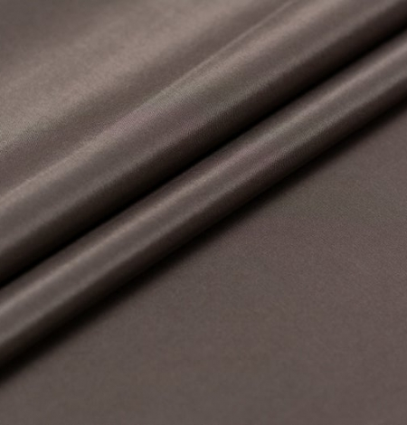 Brown viscose with elastane lining fabric . Photo 5
