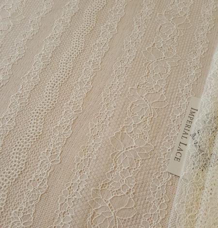 Champagne lace fabric. Photo 1