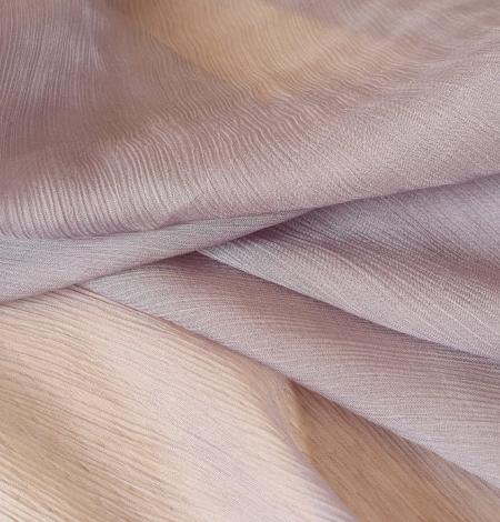 Lilac grey silk chiffon fabric. Photo 5