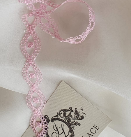 Pink chantilly lace trimming. Photo 1