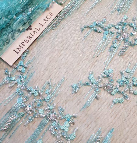 Sea green beaded lace. Photo 3