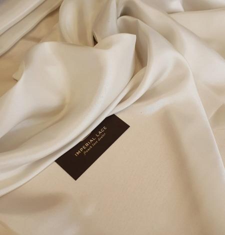 Light beige silk lining fabric. Photo 3