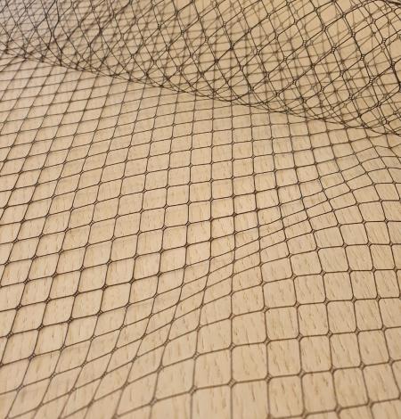 Black hat net tulle fabric. Photo 9