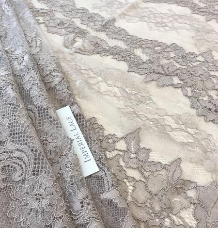 Dark ecru lace fabric. Photo 8