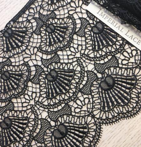 Black macrame lace trimming. Photo 1