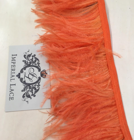 Orange ostrich feathers. Photo 8