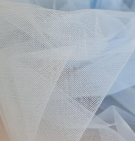 Blue tulle fabric. Photo 3