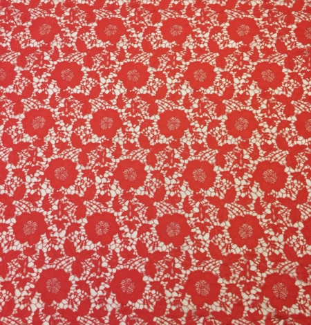 Coral Lace Fabric. Photo 2