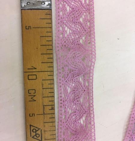 Old rose cotton lace trim. Photo 4