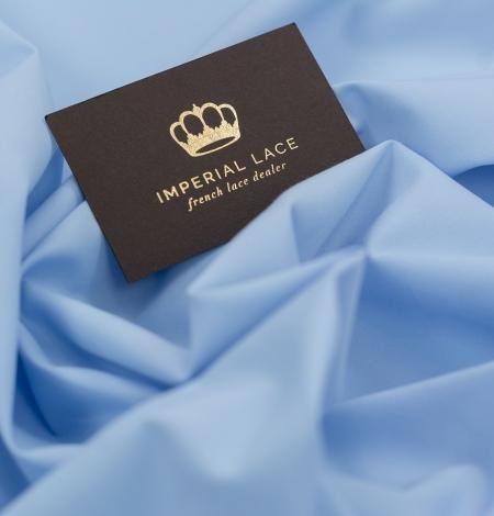 Blue cotton fabric. Photo 6